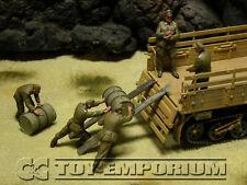 """Custom Built 1:35 WWII DAK German Soldiers """"Loading Fuel Drums"""" Soldier Set (5)"""