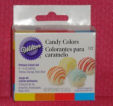 Candy Colors Primary, 4 set, Wilton, Oil based,.25oz,1913-1299, Multi-Color