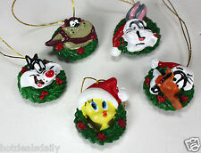SET / 18 LOONEY TUNES MINI CHRISTMAS ORNAMENTS BUGS DAFFY TWEETY TAZ SYLVESTER