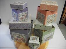 AMCAL JOY MARIE HEIMSOTH SET OF 5 NESTING BOXES IN GIFTS OF THE GARDEN