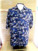 WINDHAM POINTE Men Hawaiian ALOHA shirt pit to pit 24 XL rayon tropical luau