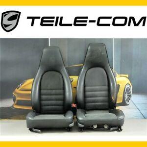 Porsche 928 / 944? Sitze Kunstleder+Stoff mit Schriftzüge schwarz L+R/seats