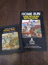 Home Run Atari 2600 Video Game Cartridge With Instruction Manual 1978