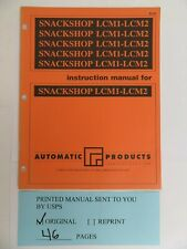 Automatic products for Snackshop Lcm1-Lcm2 instructions manual (46 pages)