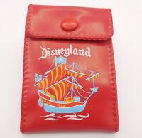 Disney Wallet Red Vinyl Disneyland Chicken of the Sea Tuna Boat Circa 1960s