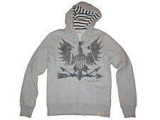 Ralph Lauren Denim and Supply Gray War Eagle Polo Hoodie Jacket Sweatshirt S