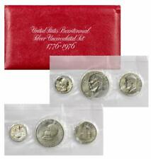 1976 S  U.S. Mint Bicentennial Three Coin Set Quarter Kennedy Ike 40% Silver BU