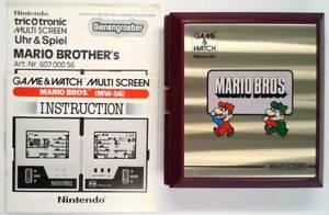 MARIO BROS. MULTISCREEN GAME & WATCH 1983 incl. manual - MINT / TOP - Nintendo
