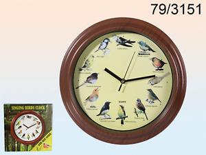 Wall clock with bird sounds