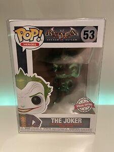 POP! Vinyl Batman The Joker #53 Special Edition Chrome Green +POP Protector!