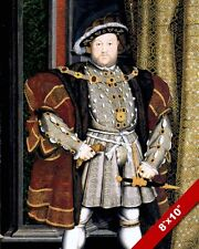 KING HENRY THE 8TH VIII OF ENGLAND PORTRAIT PAINTING ART REAL CANVAS PRINT