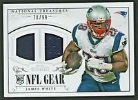 James White 2014 Panini National Treasures RC Rookie Dual Materials Jersey /99