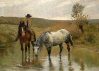 CHENPAT588 man riding horse & rare animal horse oil painting art on canvas
