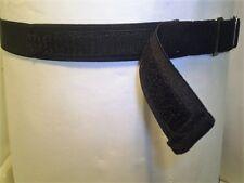 Adults elastic adjustable black  belts with VELCRO® brand  hook & loop fastening