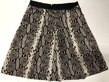 Banana Republic Womens Animal Print Silk  Skirt Size 14