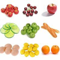 Artificial Fake Fruit Food Faux Realistic Lemon Orange Theater Prop Home Decor