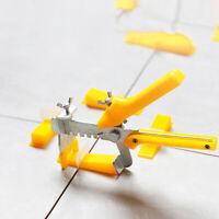 200Pcs Tile Leveling System Clips Kit Wall Floor Tile Spacer Tiling Tool F9K5