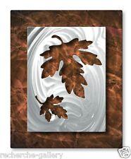 Abstract Leaf Metal Wall Art Modern Home Decor Contemporary Wall Sculpture