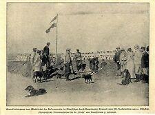 China Kiautschau: Grundsteinlegung zum Wachtlokal Hptm.Conradi Bilddokument 1900