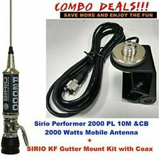 Combo: Sirio Performer 2000 PL 10M/CB Mobile antenna with Gutter Mount Kit