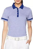 ADIDAS Women's Essentials Pique Short Sleeve Golf Polo Shirt Mystery Ink Size S