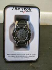 Armitron Pro Sport Womens 45/7086BLK Water Resistant Chronograph Watch, Black