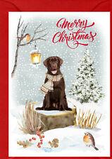 """Labrador Retriever Dog A6 (4""""x 6"""") Christmas Card (Blank inside) by Starprint"""