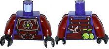 LEGO - Minifig Torso Dark Red Samurai Armor, Snake Heads Belt Buckle - (Clouse)