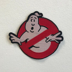 Ghostbusters Movie Art Badge Clothes Large Iron on Sew on Embroidered Patch