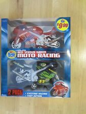 Toy Friction Racing Motorcycle Set