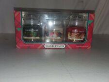 Yankee Candle 3 Jar 3.7 oz Balsam & Cedar, Sugared Apple & Sparkling Cinnamon