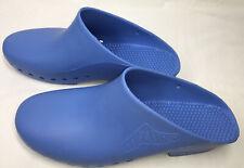 Bihos Padova Calzuro Blue Rubber Clogs Slip On Shoes Women US 8-9 EU 42-43
