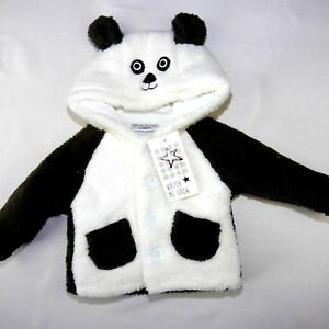NEU, kuschelige  Baby Unisex Winterjacke Panda Bär Gr. 62,68,74