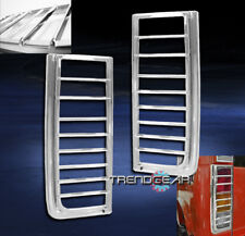 2003-2009 HUMMER H2 SUV REAR TAILLIGHT TAIL LIGHT LAMP COVERS TRIMS BEZEL CHROME