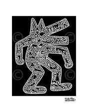 Dog, 1985 by Keith Haring Art Print Dancing Animal Pop Poster 11x14