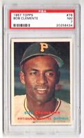 1957 Topps #76 Bob Clemente - Pittsburgh Pirates, Graded PSA 7 NM Condition*
