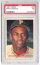 1957 Topps #76 Bob Clemente - Pittsburgh Pirates, Graded PSA 7 NM Condition