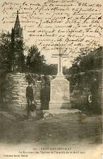 Carte SAINT JEAN BREVELAY Monument des Victimes de l'Incendie du 28 Avril 1901