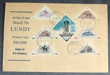 Lundy Island: March 7, 1955 Millenary First Day Cover