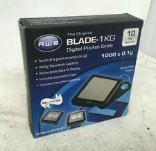American Weigh Scales - Blade-1KG Digital Pocket Scale - 1000 by 0.1 G, Black