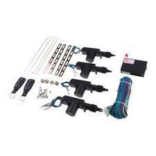 Car Central Locking System Keyless Entry w/ 4 Power Door Lock Actuator Kit