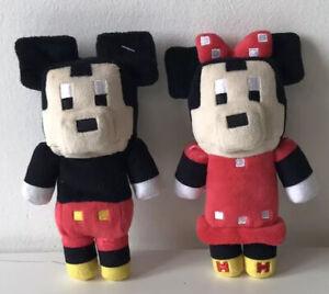 "Disney Crossy Road 6"" Minnie + Mickey Mouse Soft Toy Plush"