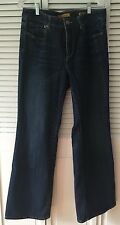 Seven For All Mankind - Women's Flare Dark Washed Jeans - Size 12