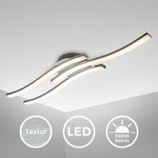 LED Design Deckenleuchte Wohnzimmer modern Deckenlampe Acrylweiß Aluoptik 6 Watt