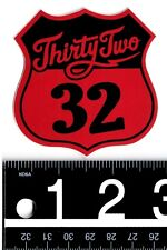 THIRTYTWO SNOWBOARD STICKER Thirtytwo Snowboarding Sticker 32 Red Badge Decal