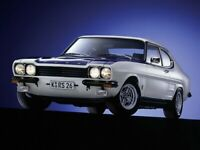 FORD CAPRI MKI FACELIFT RS2600 RETRO POSTER PRINT CLASSIC 70's ADVERT A3