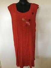 Size 18 Deep Coral Funky tunic Dress - Clarity
