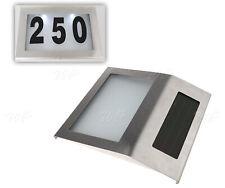 Solar LED Licht Hausnummernleuchte Hausnummer Beleuchtung Beleuchtet Satz