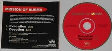 Mission of Burma  Execution, Devotion  2008 U.S. promo cd  -Rare!