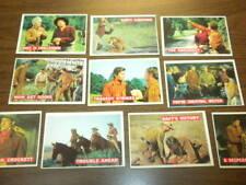 10 DAVY CROCKETT cards (34-52) Topps 1956 Orange back - DISNEY - FESS PARKER lot